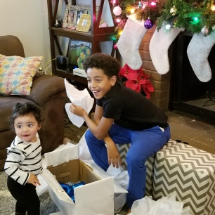 Telling the kids they are going to have a baby BROTHER!